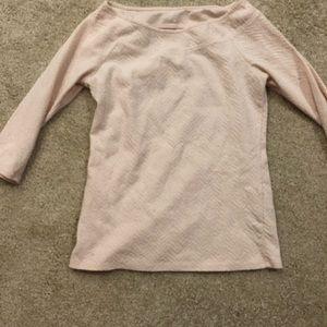 Long sleeve light pink dress shirt